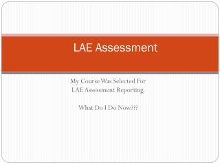 LAE Assessment