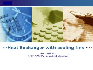 Heat Exchanger with cooling fins