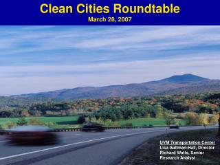 Clean Cities Roundtable March 28, 2007