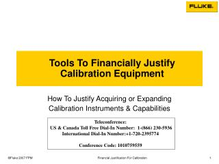 Tools To Financially Justify Calibration Equipment