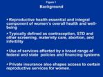 Reproductive Health Care for Women: Coverage, Access, and Financing