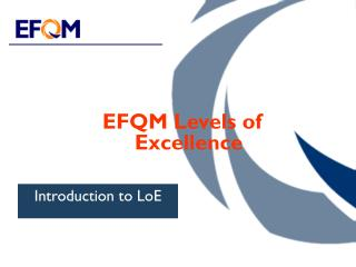 EFQM Levels of Excellence