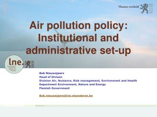 Air pollution policy: Institutional and administrative set-up