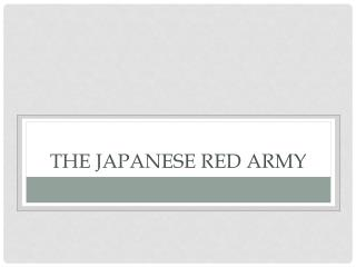 The Japanese red army