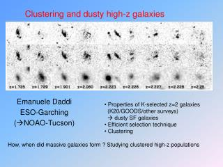 Clustering and dusty high-z galaxies