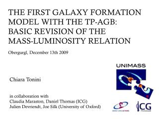 THE FIRST GALAXY FORMATION MODEL WITH THE TP-AGB:  BASIC REVISION OF THE  MASS-LUMINOSITY RELATION