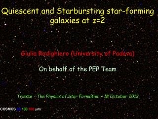 Quiescent and Starbursting star-forming galaxies at z=2