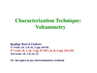 Characterization Technique: Voltammetry