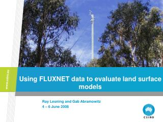 Using FLUXNET data to evaluate land surface models