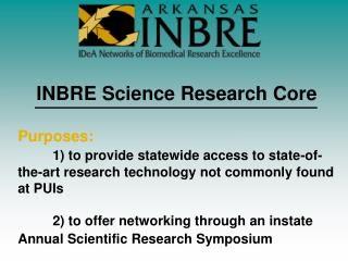 INBRE Science Research Core