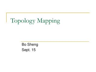Topology Mapping