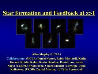 Star formation and Feedback at z>1