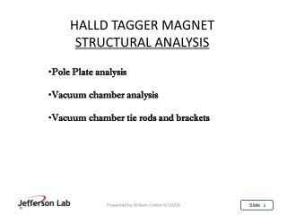 HALLD TAGGER MAGNET STRUCTURAL ANALYSIS