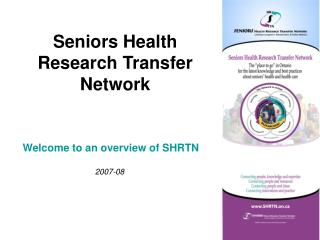 Seniors Health Research Transfer Network