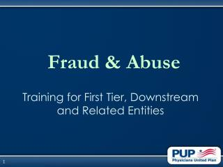 Fraud  Abuse