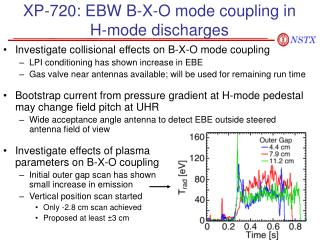 XP-720: EBW B-X-O mode coupling in    H-mode discharges