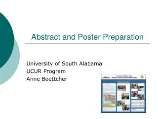 Abstract and Poster Preparation