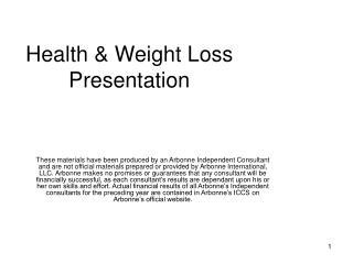 Health & Weight Loss Presentation