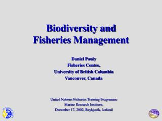 Biodiversity and  Fisheries Management