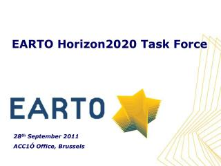 EARTO Horizon2020 Task Force