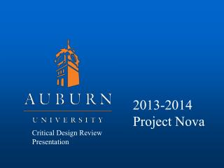 Critical Design Review Presentation