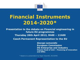 Financial Instruments 2014-2020*