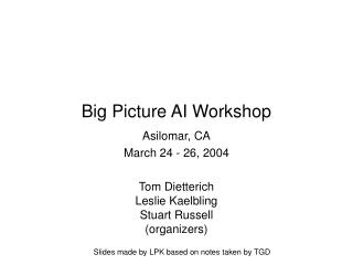 Big Picture AI Workshop