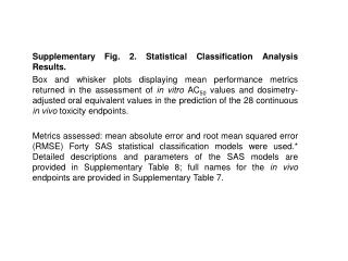 Supplementary Fig. 2. Statistical Classification Analysis Results.