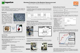 Biomass Production of the Bacteria  Oenococcus oeni