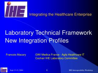 Laboratory Technical Framework New Integration Profiles