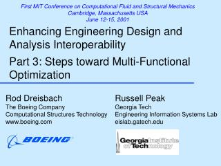 Rod Dreisbach The Boeing Company Computational Structures Technology boeing