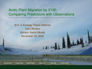 Arctic Plant Migration by 2100: Comparing Predictions with Observations