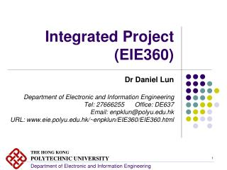 Integrated Project (EIE360)