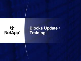 Blocks Update / Training