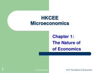 HKCEE  Microeconomics