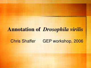 Annotation of   Drosophila virilis