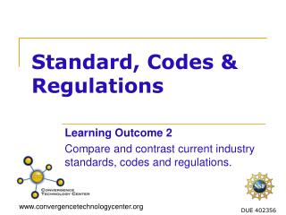 Standard, Codes & Regulations