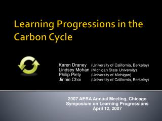 Learning Progressions in the Carbon Cycle