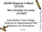SGAM-Kongress in Basel, 22.9.06