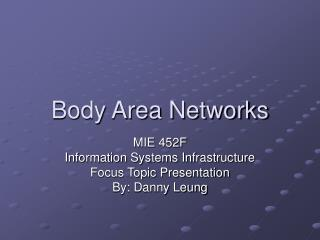 Body Area Networks