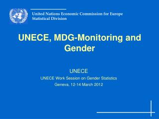 UNECE, MDG-Monitoring and Gender