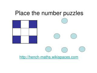 Place the number puzzles