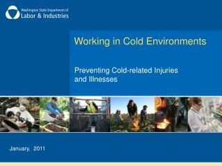 Working in Cold Environments
