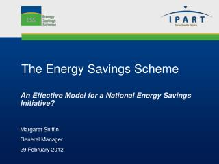 The Energy Savings Scheme