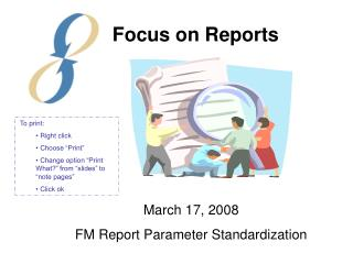 March 17, 2008 FM Report Parameter Standardization