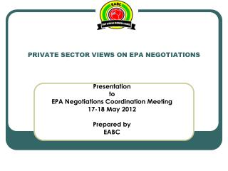 PRIVATE SECTOR VIEWS ON EPA NEGOTIATIONS