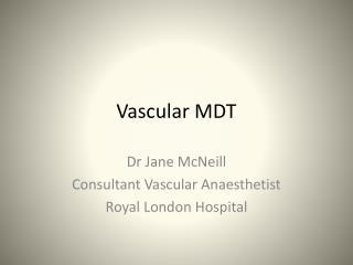 Vascular MDT