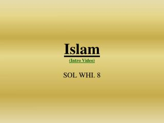 Islam  (Intro Video)