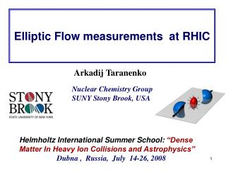 Elliptic Flow measurements  at RHIC
