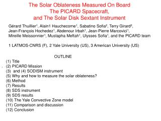 The Solar Oblateness Measured On Board The PICARD Spacecraft,